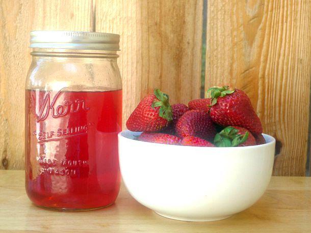 DIY Strawberry Liqueur
