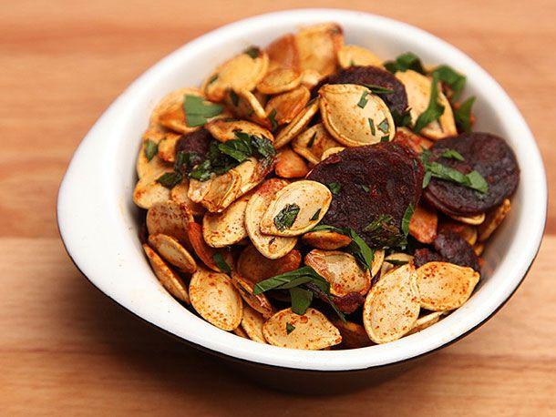 Pumpkin Seeds With Chorizo and Smoked Paprika