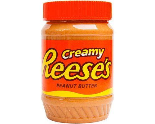 A jar of creamy Reese's peanut butter.