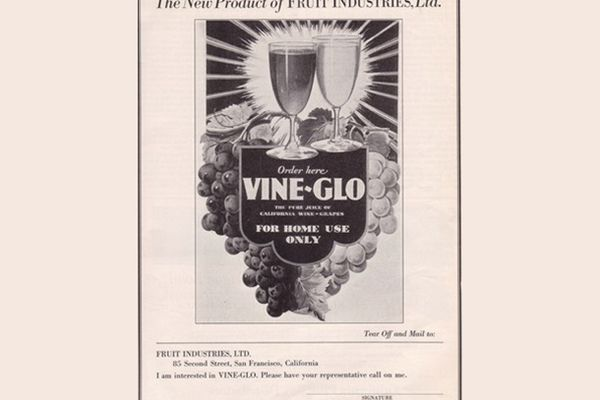 Advertisement for Vine-Glo