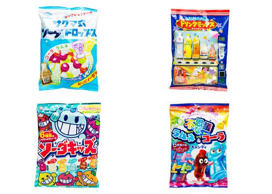 Japanese soda-flavored candy