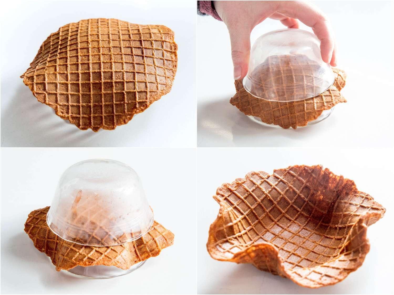 making a waffle bowl
