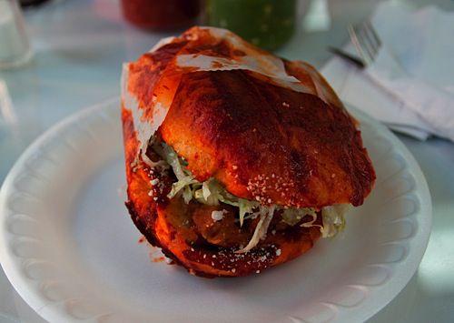 A pambazo sandwich