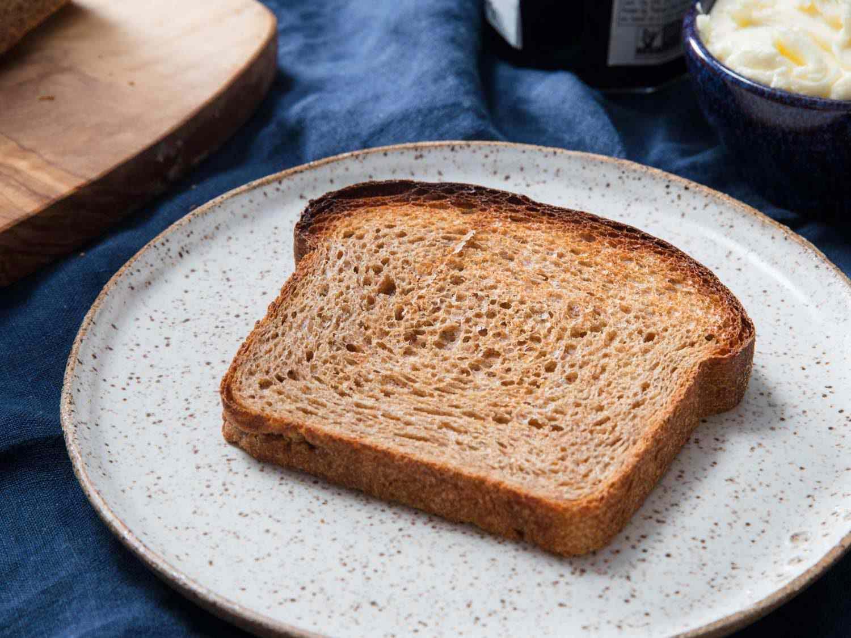 slice of 100% whole wheat bread