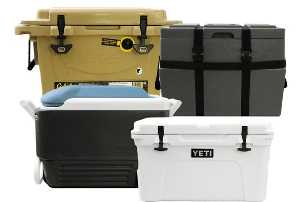 a photo collage of winning coolers