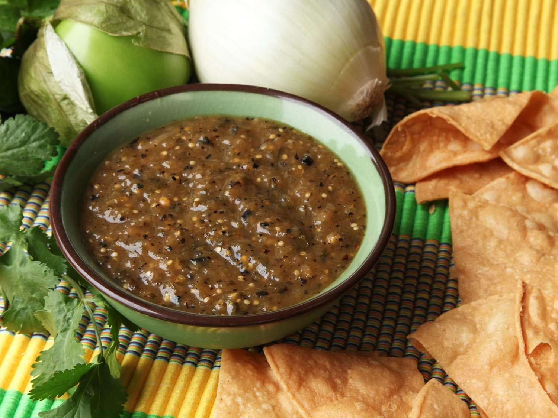 A bowl of salsa verde