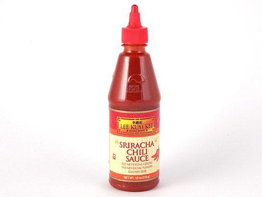 A bottle of Lee Kum Kee Sriracha