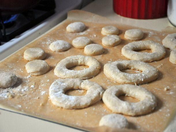 cutting out doughnuts