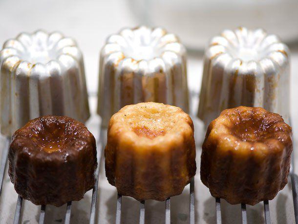 canelé baked in aluminum molds