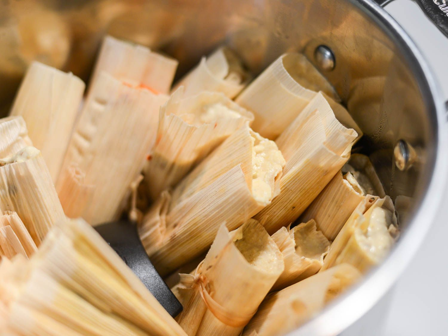 Tamales With Red Chili And Chicken Filling Recipe