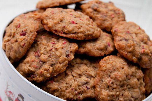 Double-Chocolate Cranberry Oatmeal Cookies