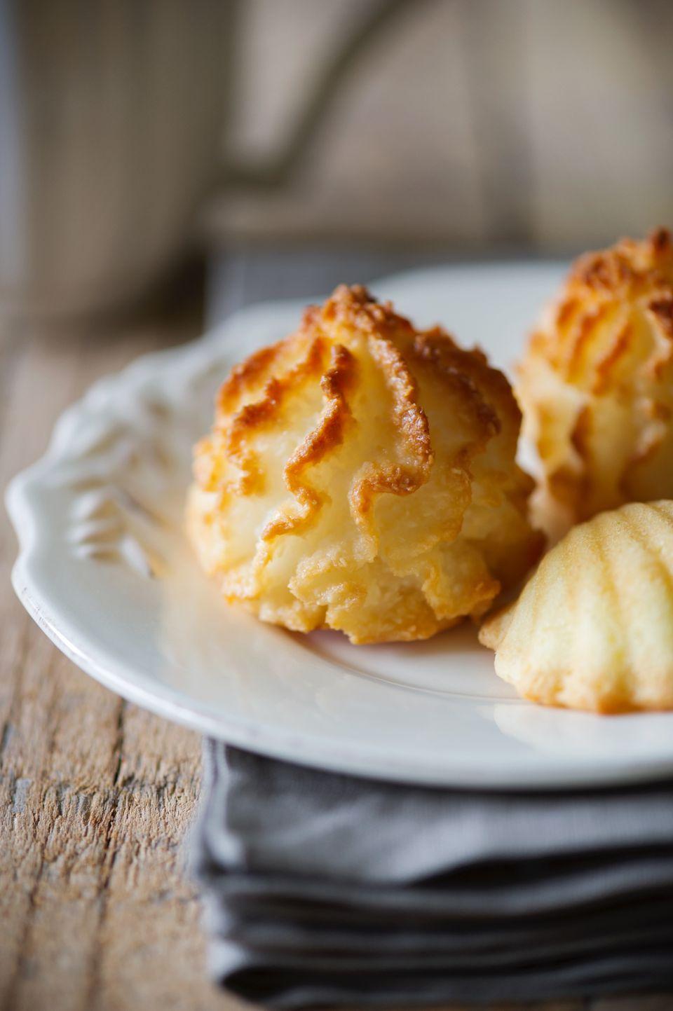 macaroon cookies on white plate