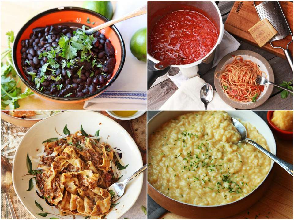 Collage of pressure-cooker recipes