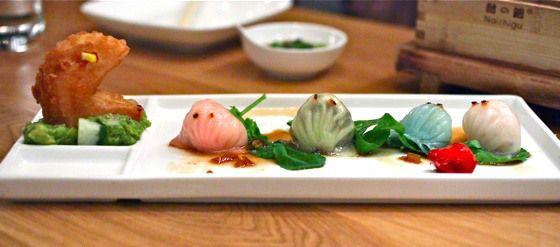 """Pac Man"" Shrimp Dumplings from Red Farm"