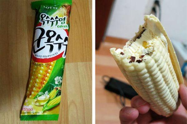 Korean Corn Ice Cream Novelty
