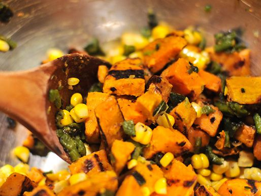 mix sweet potato corn salad
