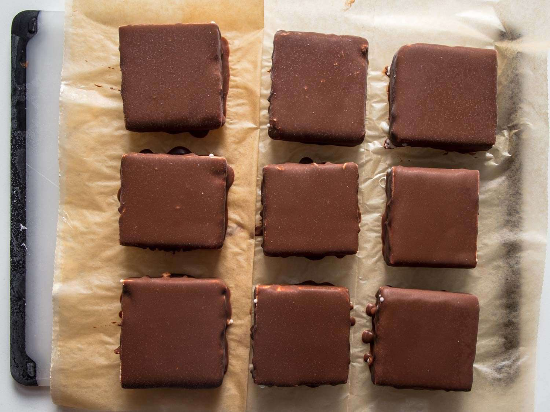 tray of homemade Klondike bars