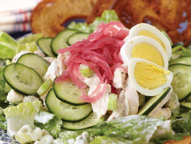 """Chicken Salad on Zuke's """"Diet"""" Salad"""