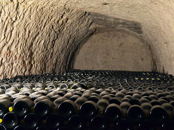 Secondary Fermentation and Aging Champagne Sur Lie
