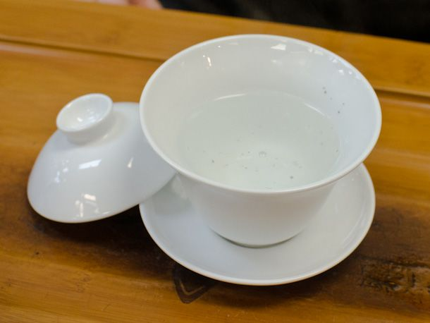 gaiwan with heated water