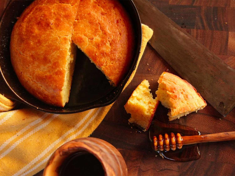 Moist and Tender Brown Butter Cornbread