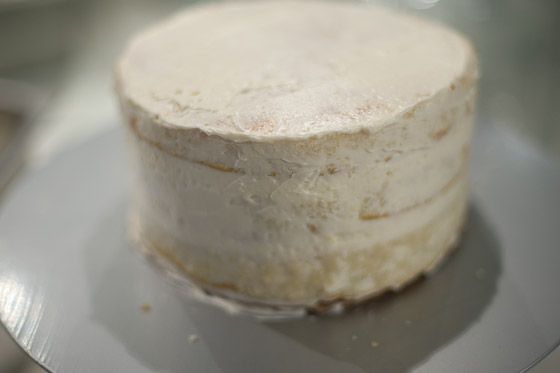 layered cake, ready for chilling