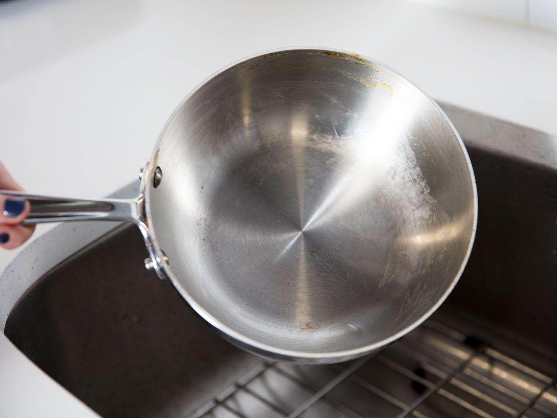 caramel pot after boiling water