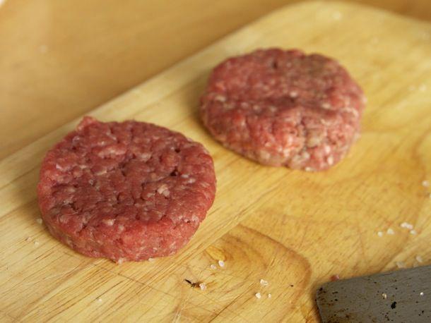 mini burger patties uncooked