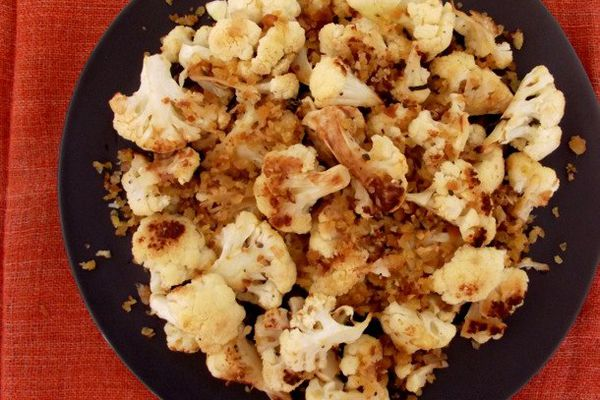 roasted cauliflower with bread crumbs