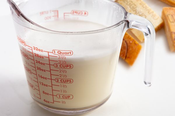 Creamy stock made with parmesan rinds