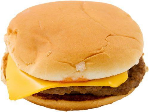 A McDonald's McDouble cheeseburger.