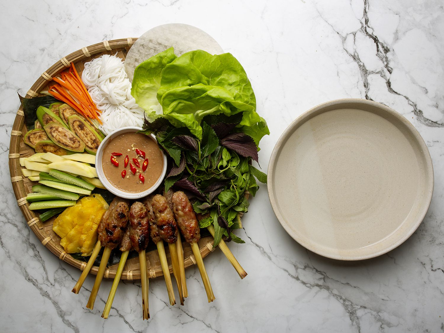 Beyond Phở: A Rice Paper Roll Platter Is Vietnam on a Tray