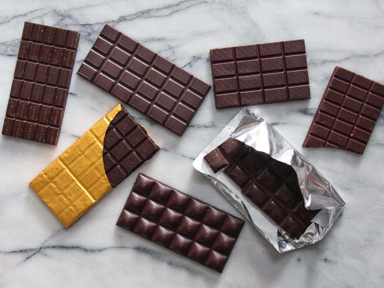 assortment of extra dark chocolate