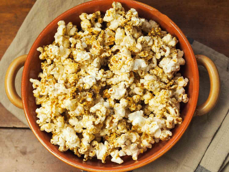 Nutritional yeast, mushroom powder, umami-bomb popcorn bowl.