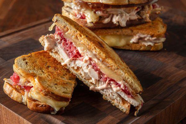 Leftover Turkey Reuben Sandwiches