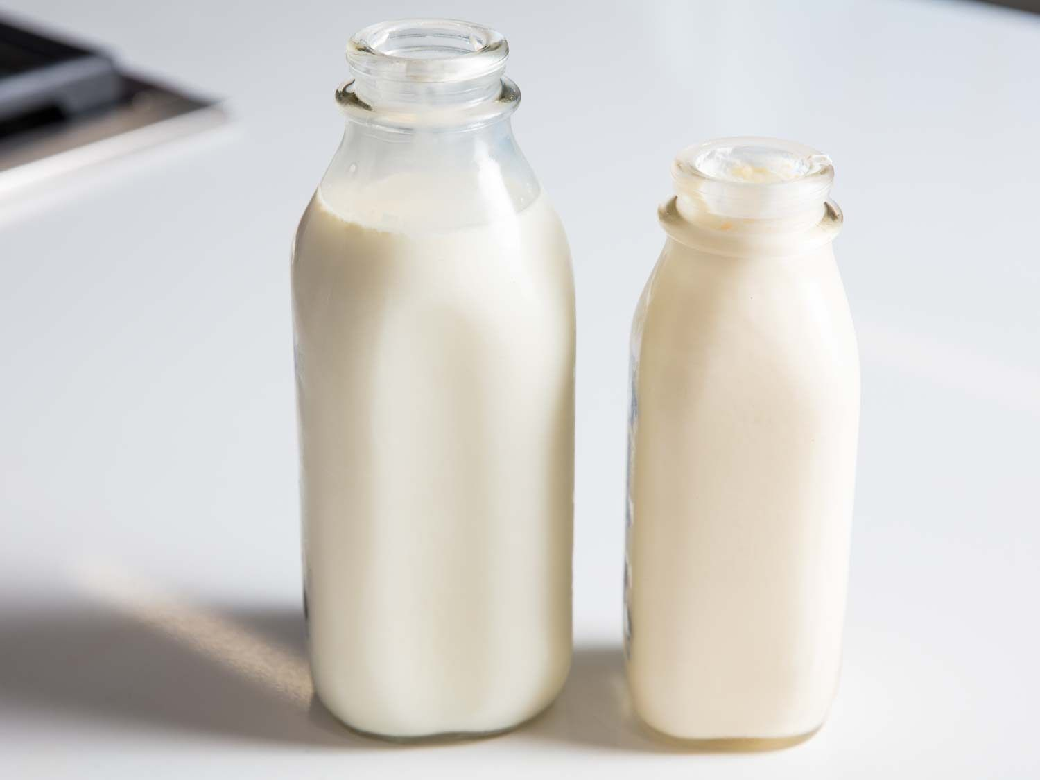 milk and cream from a local dairy