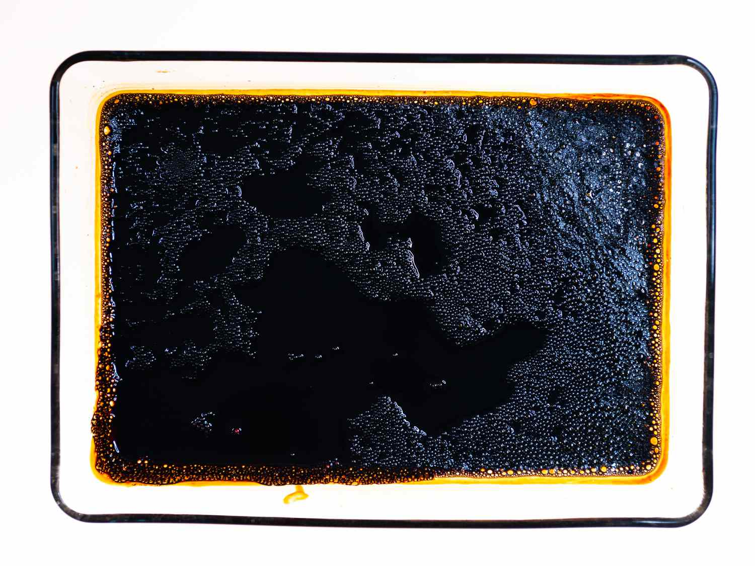 Pomegranate molasses cooked in an oven
