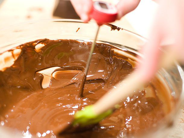 melted chocolate for bonbons