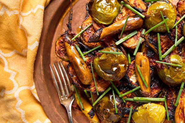 Spiced Eggplant With Tomato and Mustard Seeds