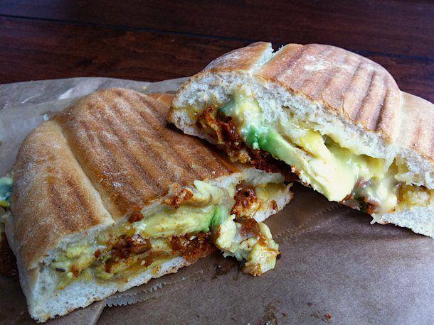 A Mexican torta sandwich
