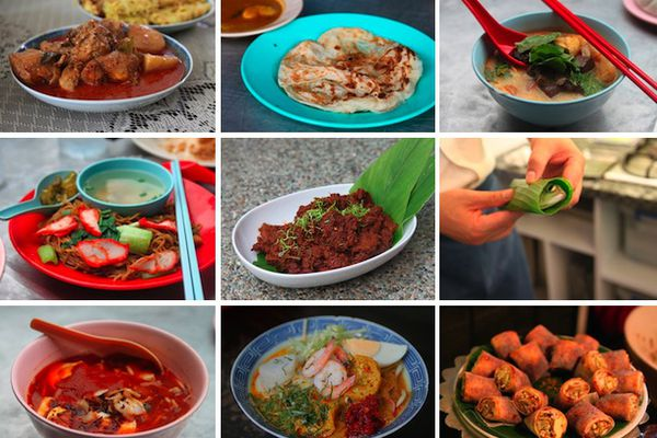 A collage of nine Malaysian dishes you should know.