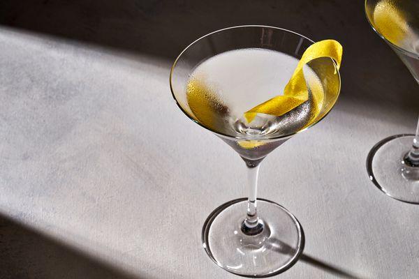 vesper cocktail in a martini glass