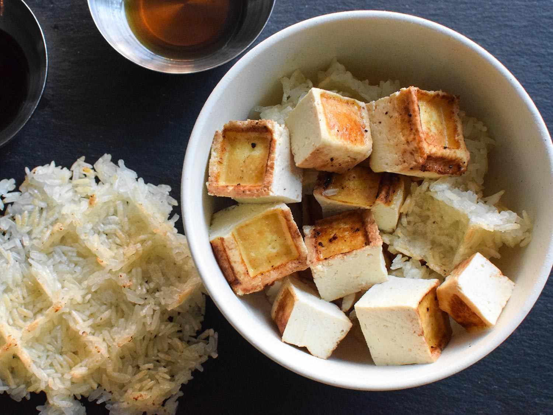 tofu and sticky rice