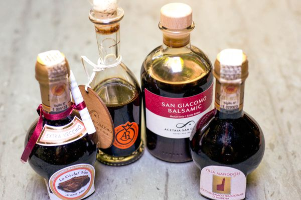 An assortment of vinegars