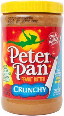 A jar of Peter Pan Crunchy Peanut Butter