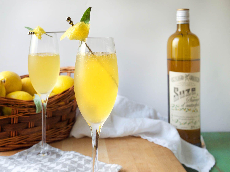 Sparkling Lemon-Suze Pitcher Cocktail