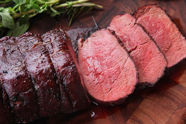 sliced Slow Roasted Beef Tenderloin