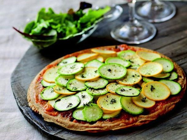 Zucchini and Apricot Socca Tart from The French Market Cookbook