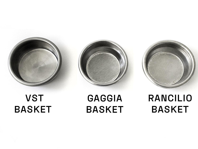 VST vs Gaggia vs Rancilio portafilter baskets for espresso