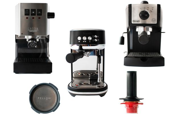 collage: our top picks for best espresso machines